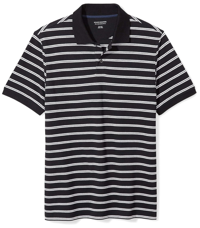 7aaa0da58d6f Amazon.com  Amazon Essentials Men s Slim-Fit Cotton Pique Polo Shirt   Clothing