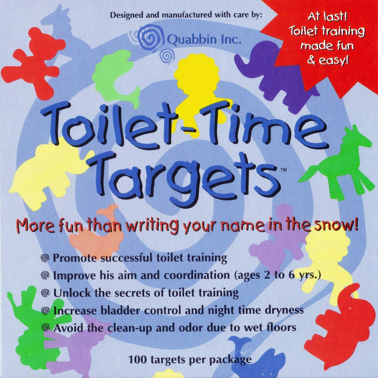 Quabbin Toilet Targets Training Products for Boys TTT-B100