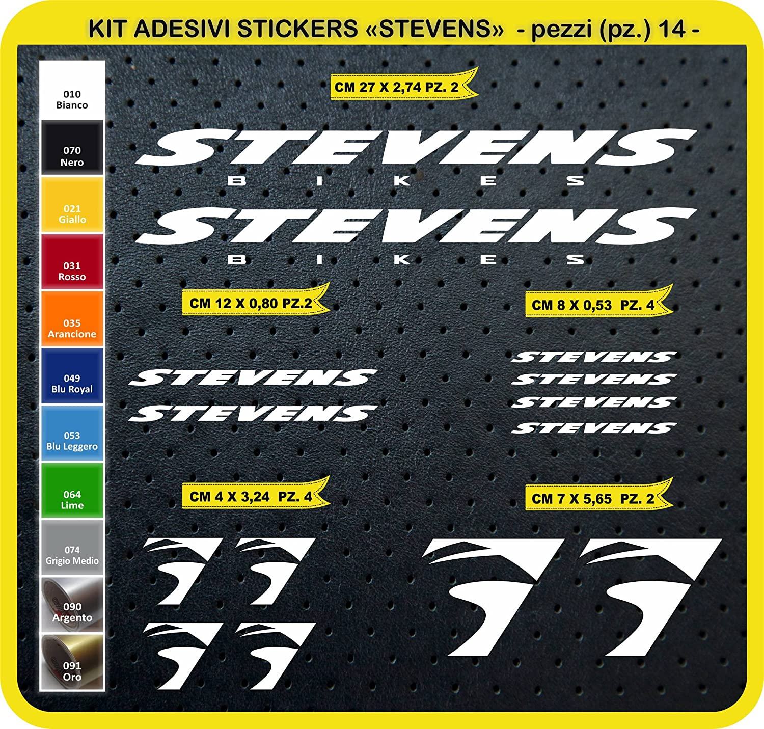 Kit Pegatinas Stickers Bicicleta Stevens -14 Piezas- Bike Cycle ...