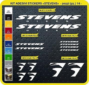 Kit Pegatinas Stickers Bicicleta Stevens -14 Piezas- Bike Cycle Cod. 0804 (010 Bianco): Amazon.es: Deportes y aire libre