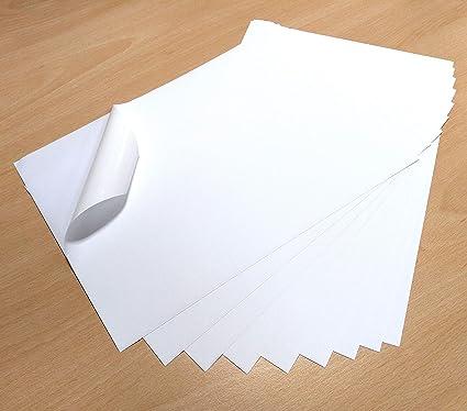 A4, 10 hojas color blanco impermeable vinilo PVC calidad fuerte ...