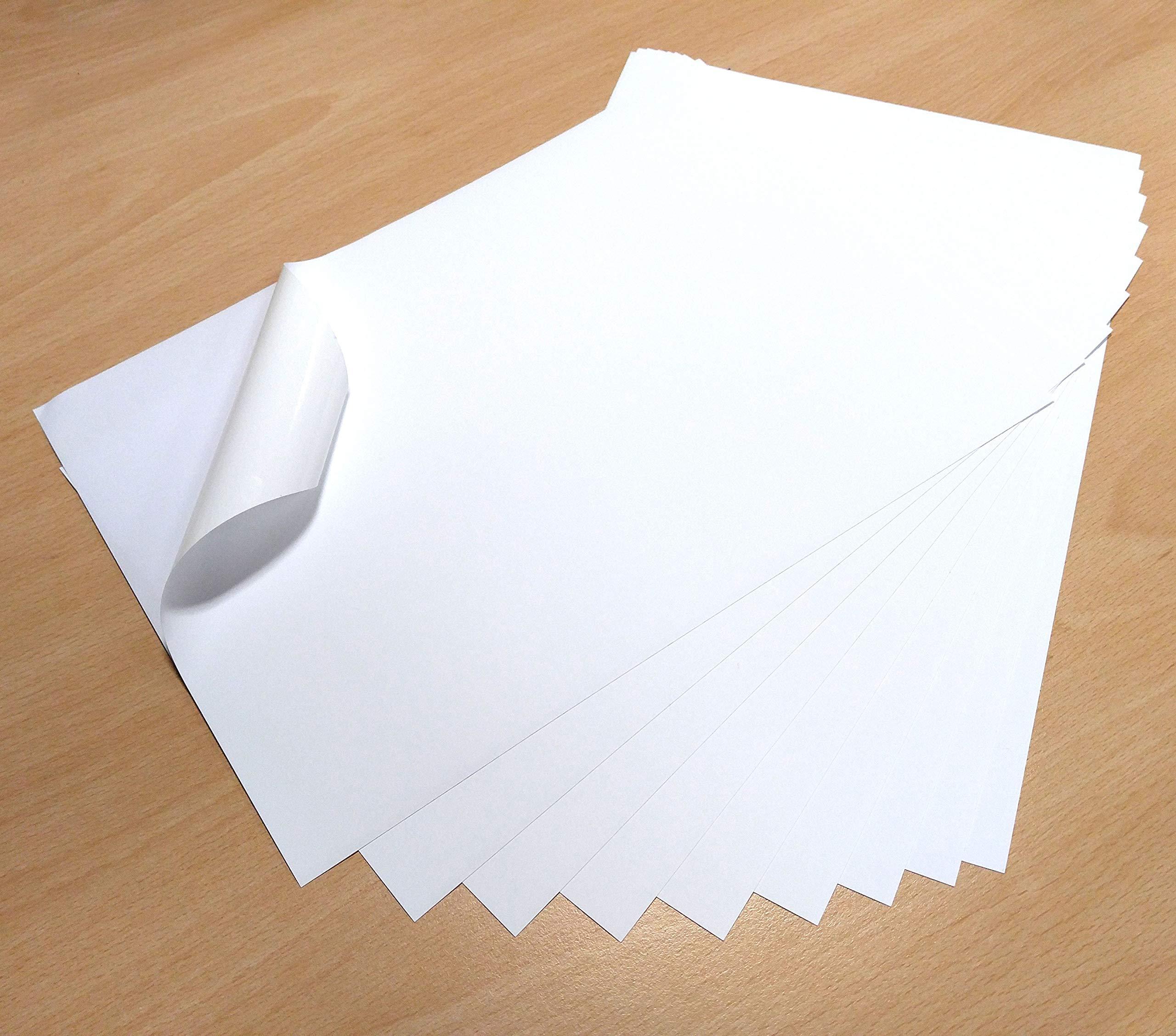 PVC Matte White Self Adhesive Sticker Sheets Quality INKJET LASER Printable 10 Sheets Premium Waterproof A4 VINYL