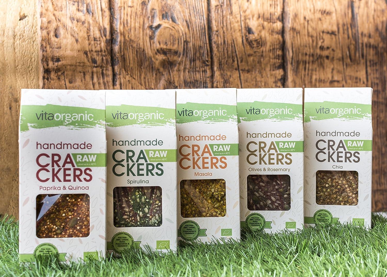 Vita Organic Cracker Raw con Pimiento y Quinoa - Paquete de 6 x 90 gr - Total: 540 gr: Amazon.es: Alimentación y bebidas