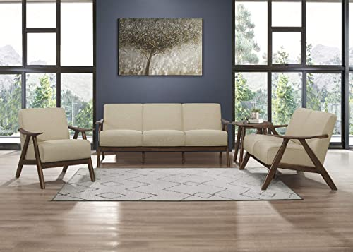 Lexicon Elle 3-Piece Living Room Set, Brown