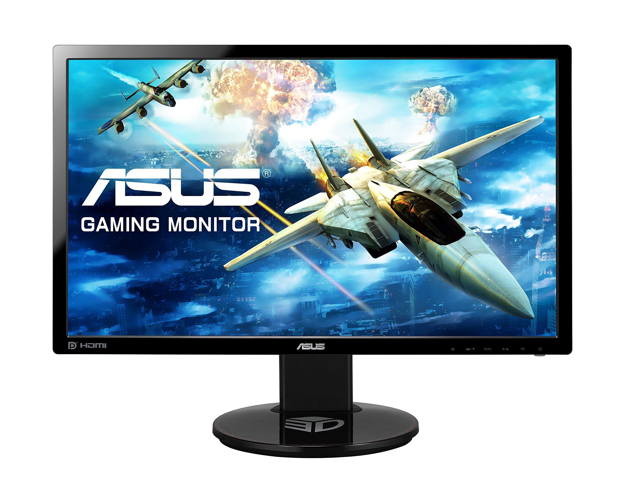 "Asus VG248QE Ecran PC 24.0""(61.0cm) 16:9, 1920x1080, HDMI, DisplayPort, Dual-link DVI-D ( NVIDIA 3D Vision), Noir product image"