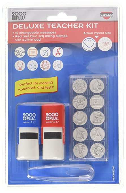 Amazon CoscoR Teachers Stamp Kit Office Products