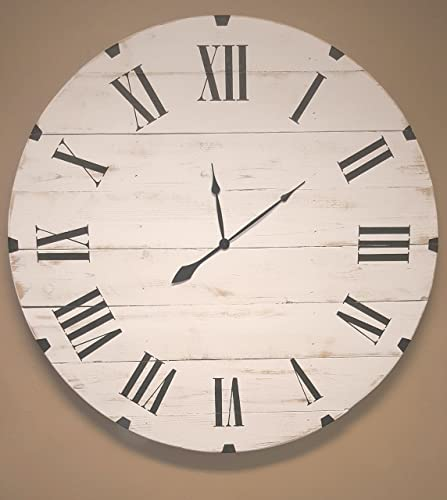 Amazoncom 18in Rivited Classic reclaimed wood wall clock