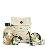Deals on The Body Shop Warm Vanilla 4pc Small Gift Box w Sweet & Creamy