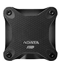 ADATA SD600 3D NAND 512GB USB3.1 Ultra-Speed External Solid State Drive Read up to 440 MB/s Black (ASD600-512GU31-CBK)