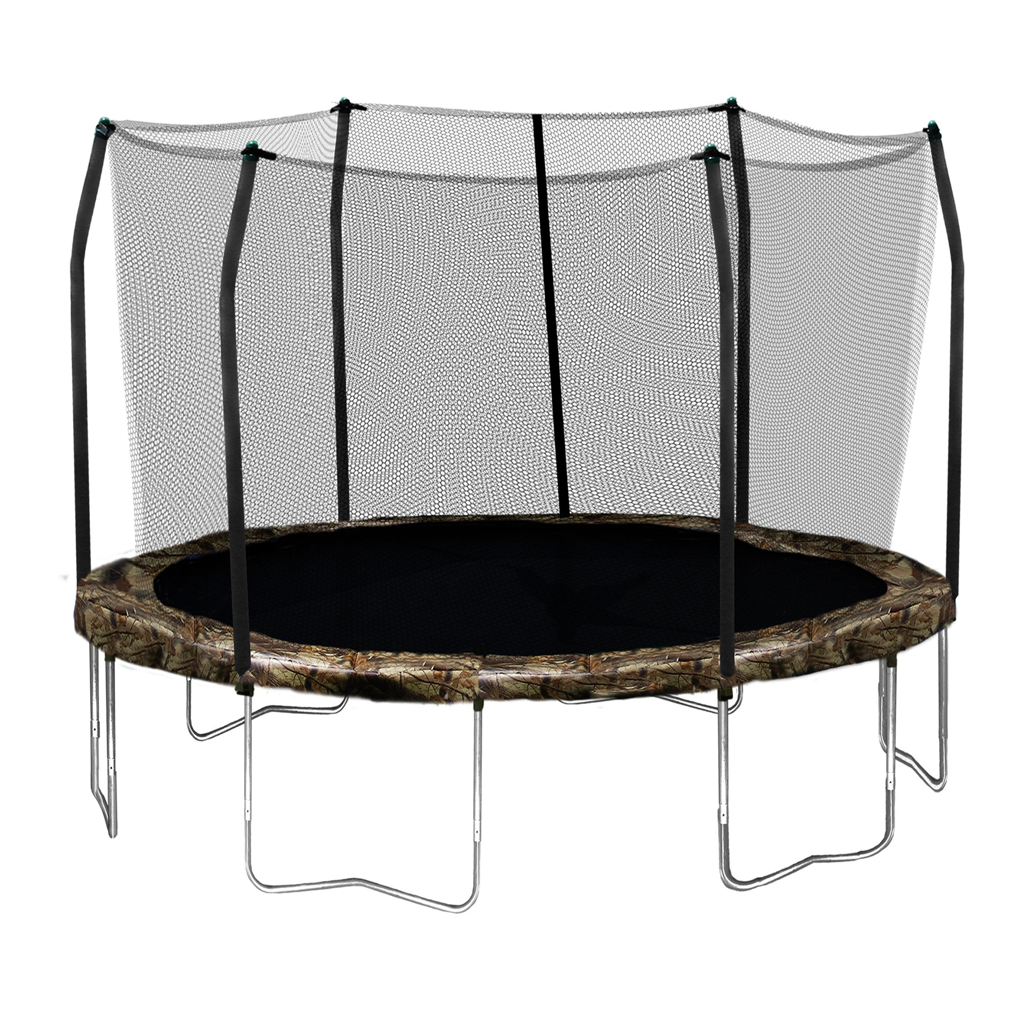 Skywalker Trampolines Round Trampoline and Enclosure with Camo Spring Pad, 12 Feet by Skywalker Trampolines