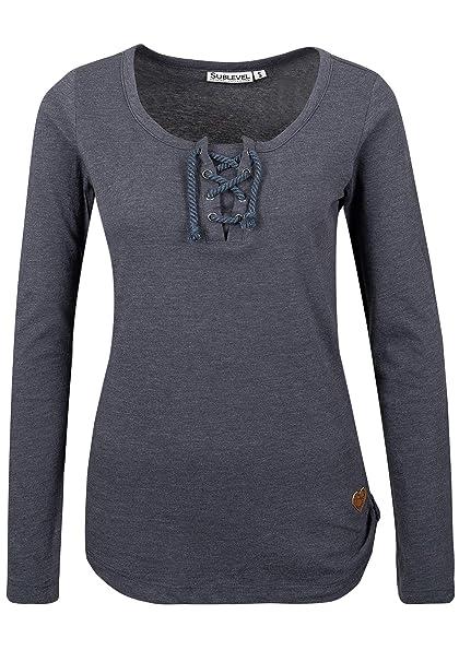 buy online e07de 140ae Sublevel Damen Basic Longsleeve mit Kordeln | Elegantes ...
