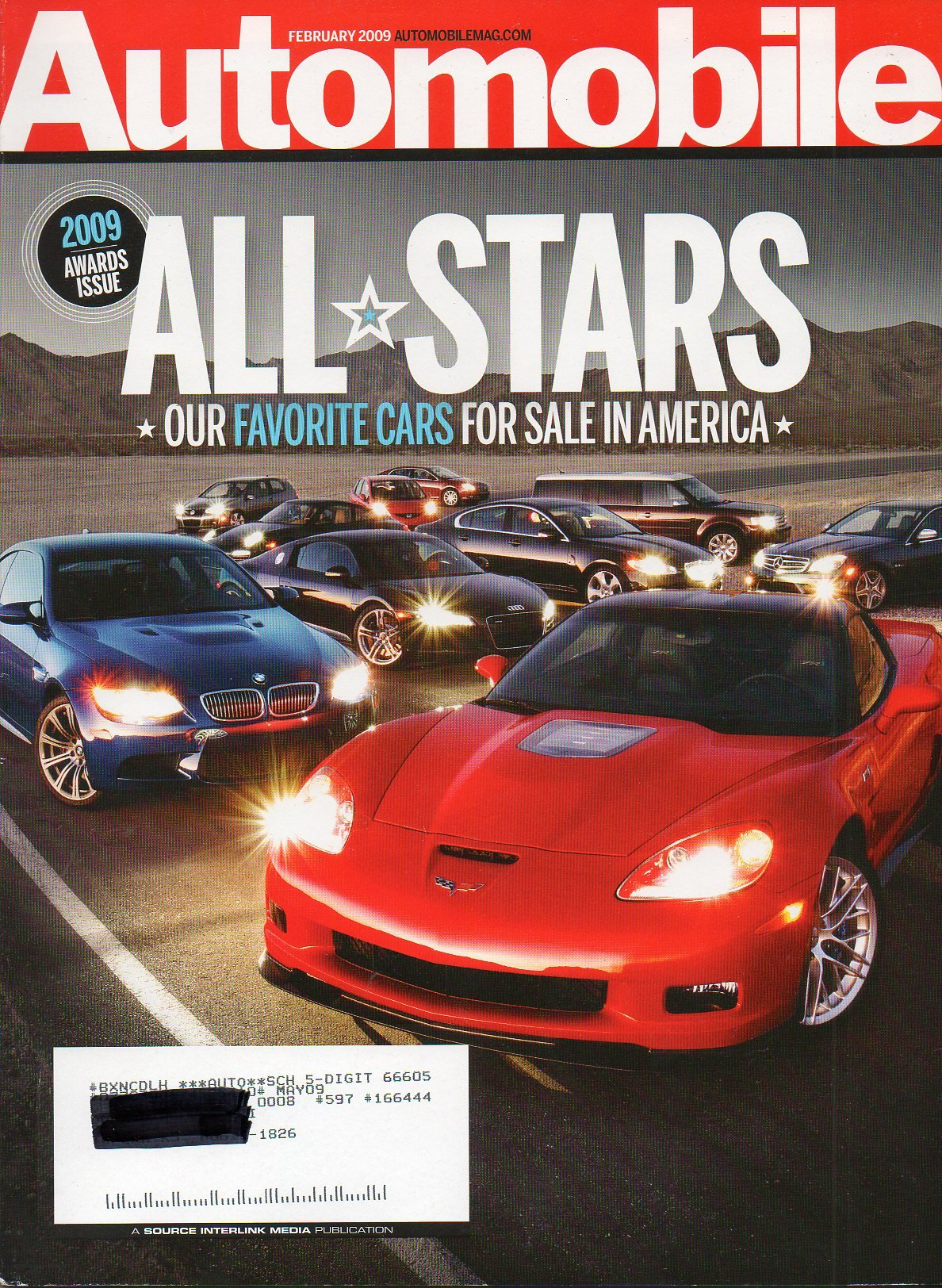 Automobile Magazine February 2009 All Stars Favorite Cars Amazon