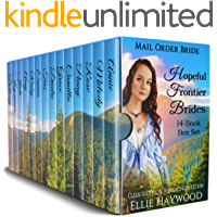 Hopeful Frontier Brides: A 14 Book Box Set: Clean Historical Western Romance Collection