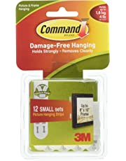 Command 17205-12PK  Small Picture Hanging Strips Value Pack 17205-12pk, White