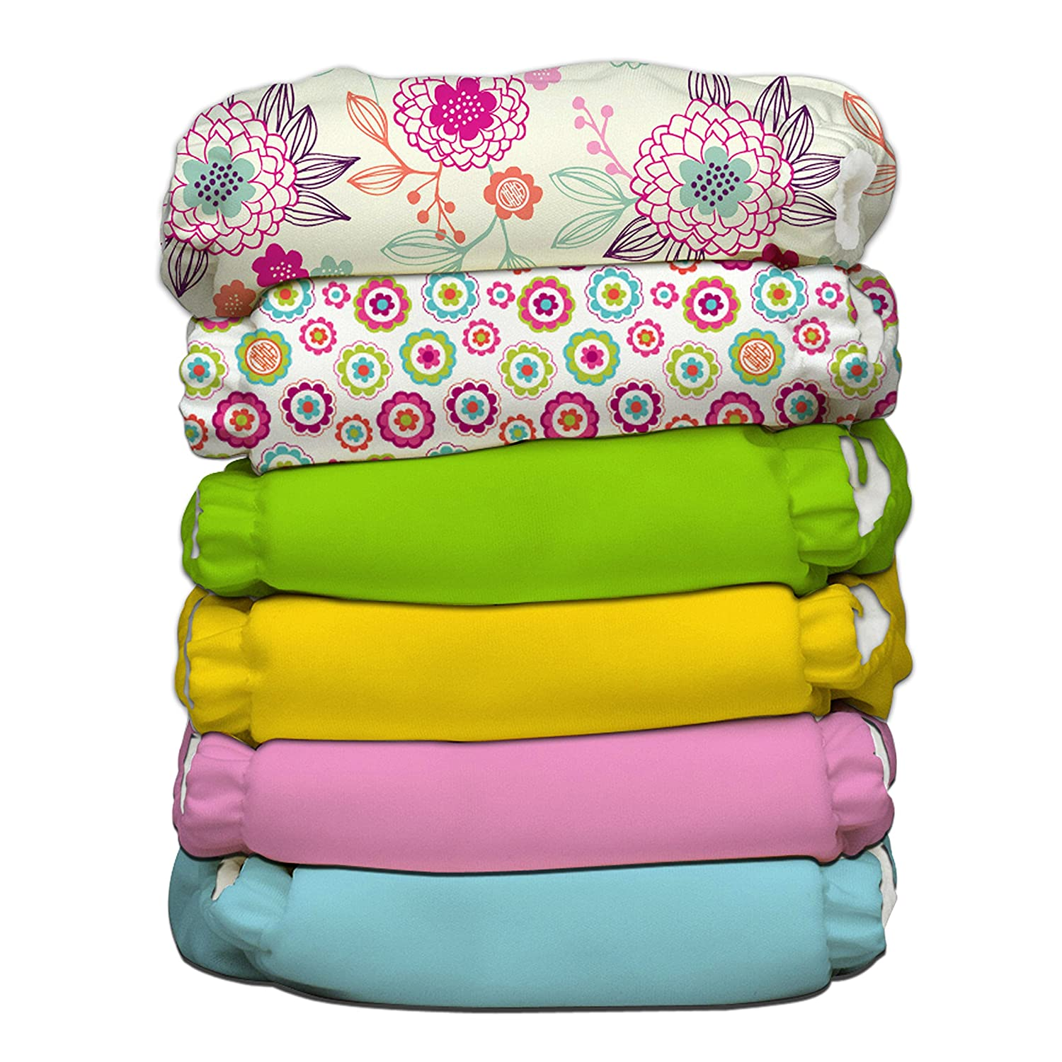 Charlie Banana 6 Diapers 12 Inserts, Organic Dreamy, One Size Winc Design Limited 888196