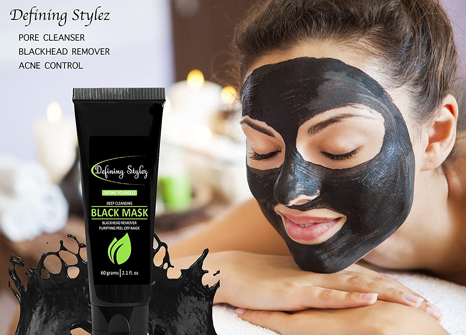 Amazon defining stylez blackhead remover black mask pore amazon defining stylez blackhead remover black mask pore cleanser peel off mask charcoal mask acne acne scars blemishes anti aging solutioingenieria Images