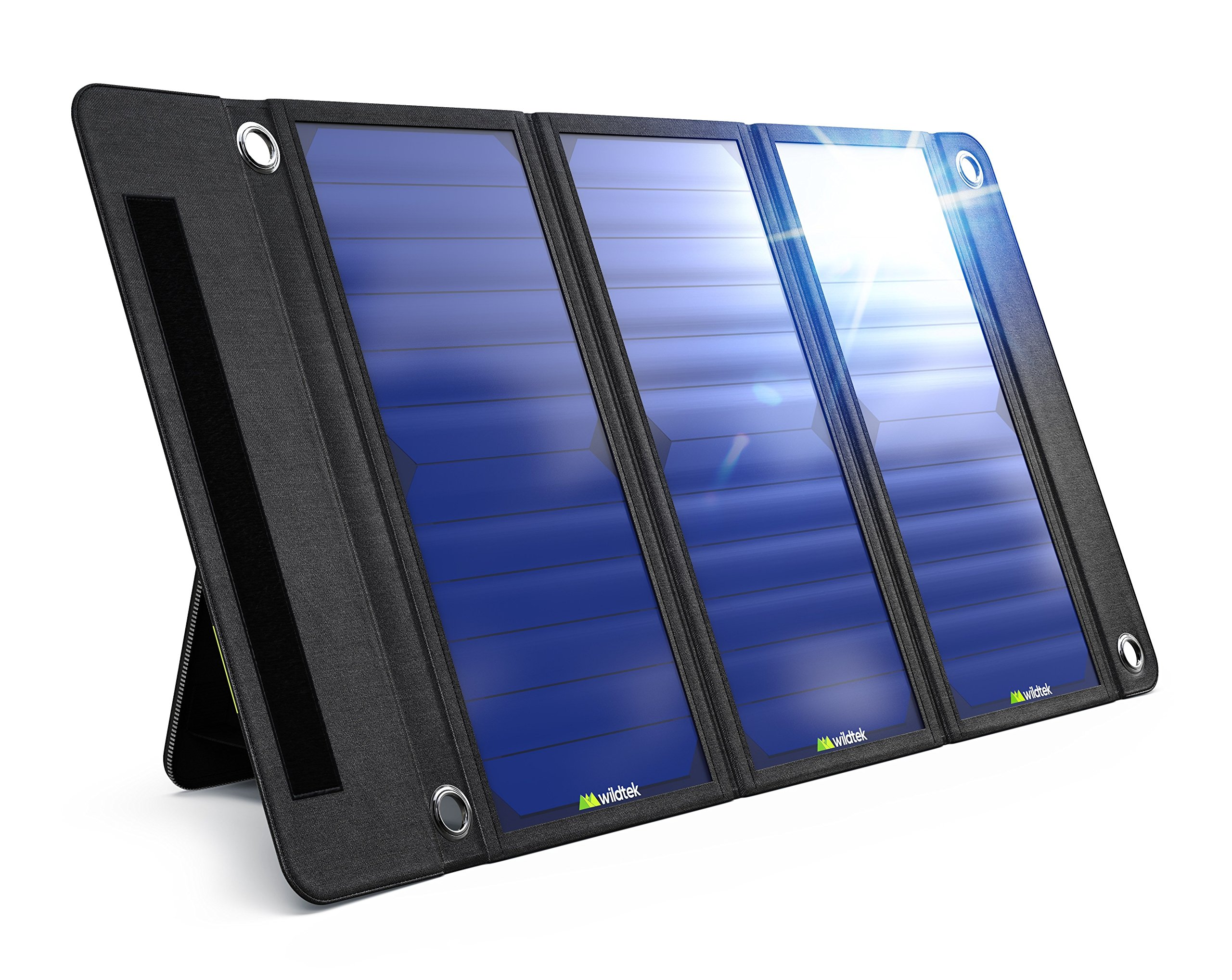 Wildtek Source 21W Waterproof Portable Solar Charger Panel with Dual USB Ports by Wildtek