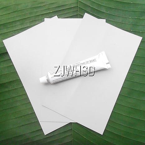 3pcs 12 x 20 cm grisáceo PVC parche + pegamento para kayak y ...