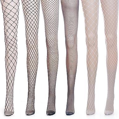 ZEWOO 6 Pares Medias de Rejilla de Calcetines de Rejilla para Mujer Fishnet Tights (Talla única): Amazon.es: Ropa y accesorios