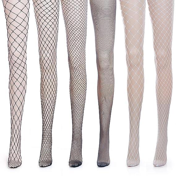 ZeWoo 6 Pares Medias de Rejilla de Calcetines de Rejilla para Mujer Fishnet Tights (Talla
