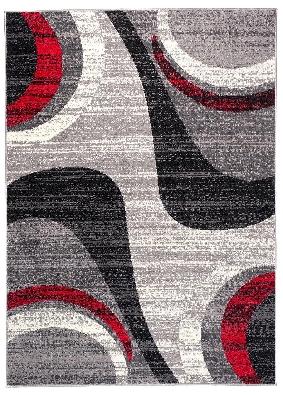 Tapiso Dream Teppich Kurzflor Meliert Modern in Grau Creme mit Streifen Wellen Muster Designer Wohnzimmer Schlafzimmer ÖKOTEX 300 x 400 cm