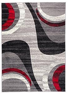 Tapiso Alfombra para Salón Cheap Movimientos Gris Diferentes Dimensiones S-XXL (140 x 200 cm)