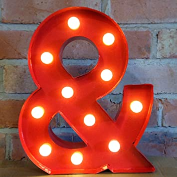 12 ampersand symbol metal light up led marquee letters alphabet lights available in