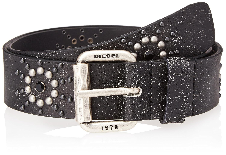 (ディーゼル) DIESEL メンズ ベルト - B-DOT - belt X05672P0752 B07FBCPJ2Z  ブラック 80 (S)