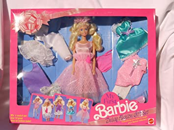 Barbie My First Deluxe Fashion Gift Set 2483 1991 Amazon Co Uk Toys Games