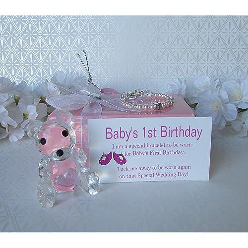 Babys 1st Birthday Gift Bracelet Baby To BrideR