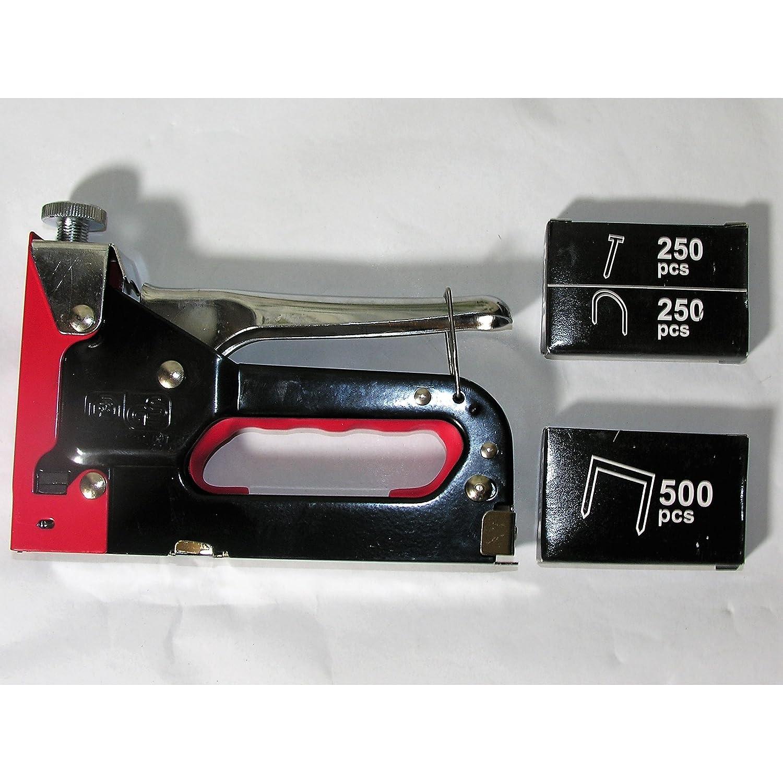 Handtacker Metall Nagler Hefter Hand Tacker 1000 Klammern 3 Funktionen 4-14mm BEAST