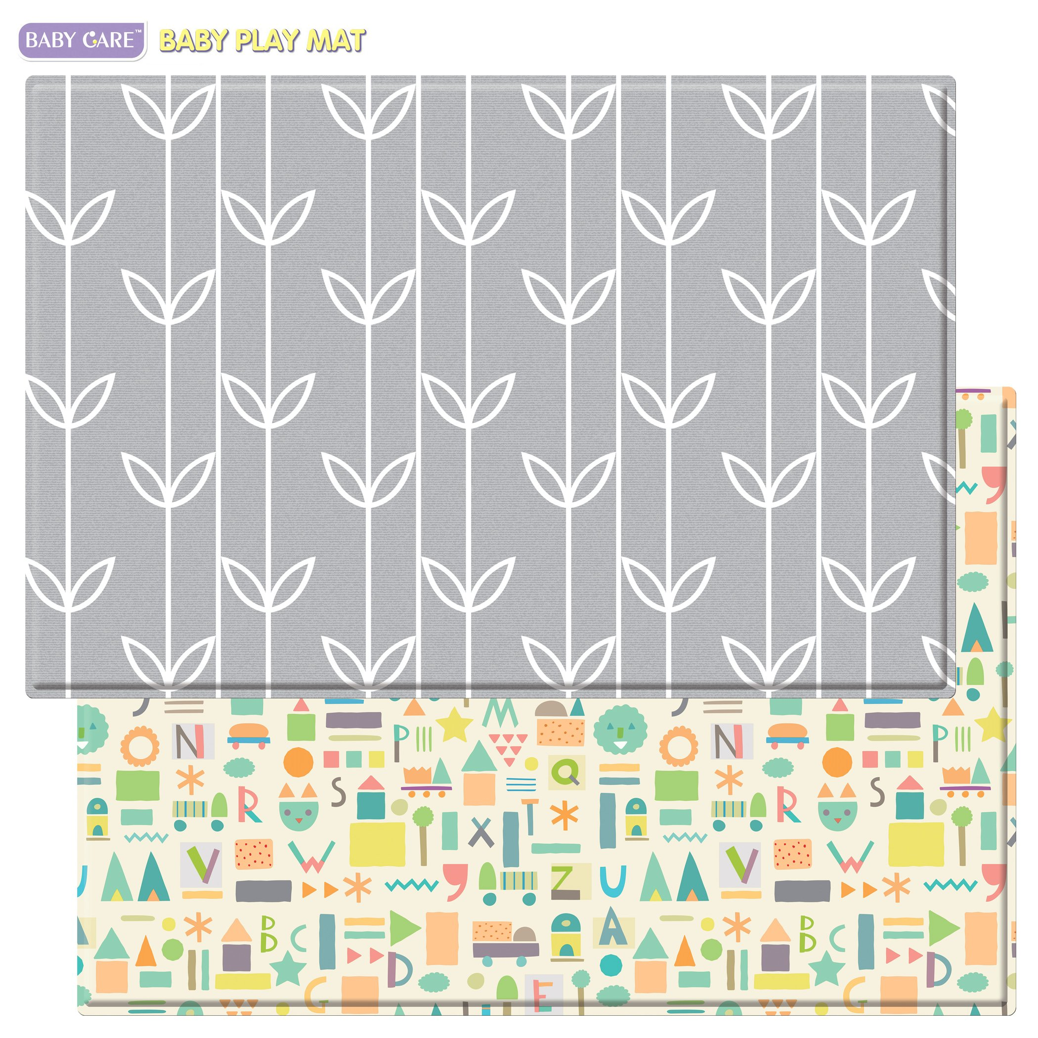 Baby Care Play Mat Haute Collection Large Sea Petals Grey Ebay