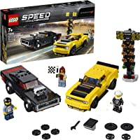 LEGO Speed Champions 2018 Dodge Challenger SRT Demon and 1970 Dodge Charger R/T 75893 Building Kit, 2019 (478 Pieces)