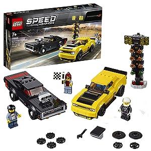 LEGO® Speed Champions 2018 Dodge Challenger SRT Demon ve 1970 Dodge Charger R/T 75893 Yapım Kiti (478 Parça)