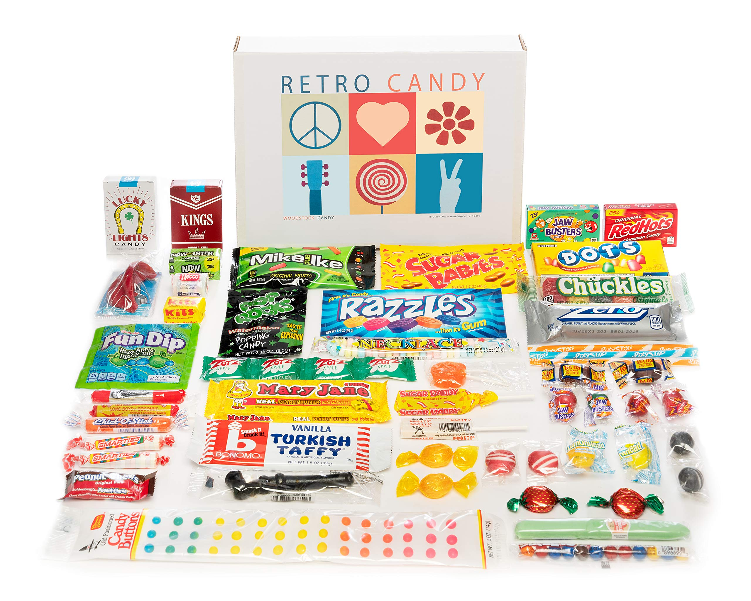Woodstock Candy ~ Care Package Classic Nostalgic Retro Candy Assortment Gift Box for Men and Women