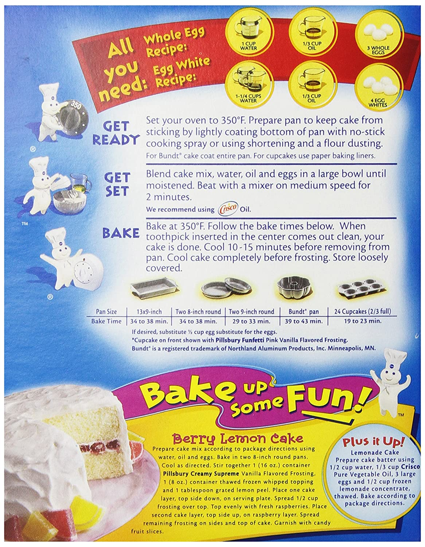 Pillsbury Funfetti Cake Mix Directions