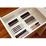 Alex 6 Acrylic Eyeliner Mascara Drawer Organizer for the Ikea Alex Divider Tray Clear by Sonny Cosmetics