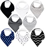 Amazon Price History for:Baby Bandana Drool Bibs for Boys and Girls by TheAZBaby, Unisex 8 Pack Organic Cotton Bib Gift Set, for Teething and Drooling, Soft Absorbent and Hypoallergenic.