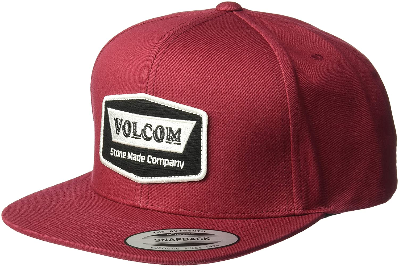 Amazon.com  Volcom Men s Cresticle Snapback Hat Burgundy  Clothing e7fa0c1b8f7