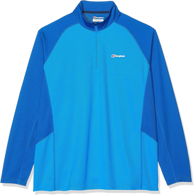 XXXL Berghaus Mens Tech 2.0 Long Sleeve Crew Neck T-Shirt Adriatic//Snorkel Blue