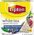 Lipton White Tea Pyramids, Blueberry Pomegranate 18 ct