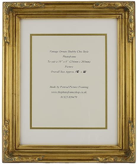 Antique Gold Shabby Chic Ornate Swept Vintage Picture Frame 18\