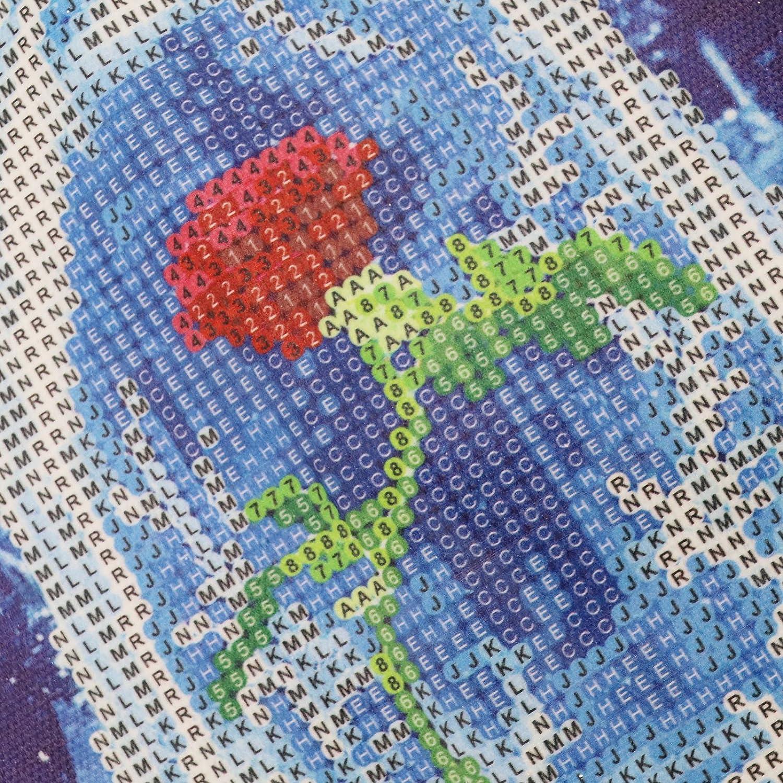 30cm DIY 5D Diamant-Rosen Gem/älde Stickerei Kreuzstich Kit voller Bohrer Strass Handwerk Farbe Wand Heimdeko 40 x 30 cm 30 x 30 cm 30