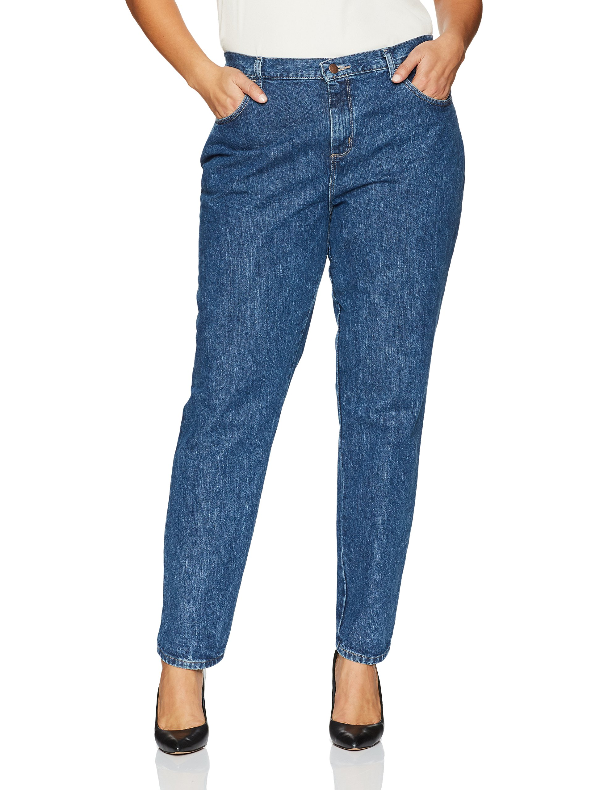 LEE Women's Plus-Size Relaxed Fit All Cotton Straight Leg Jean, Livia, 30W Petite