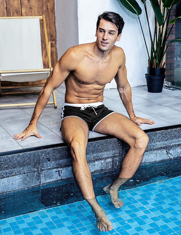 Hawiton Atractivos Transpirable Ba/ñador de Nataci/ón para Hombre Boxeador Pantalones Trajes de Ba/ño Cortos Hombre De Playa Piscina Ba/ñadores
