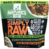 Nature's Diet Simply Raw Freeze-Dried Raw Whole Food Meal - Makes 18 Lbs Fresh Raw Food with Muscle, Organ, Bone Broth, Whole