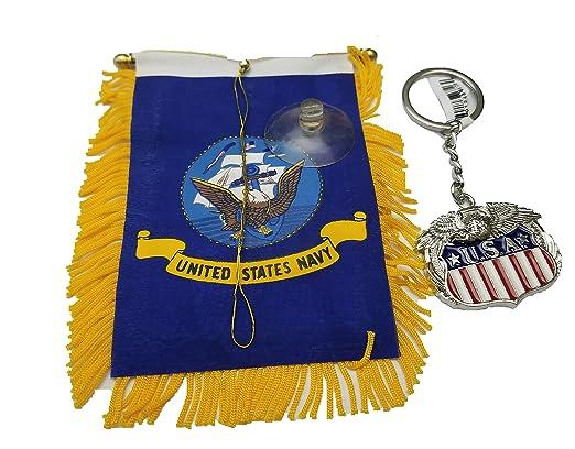 BUNFIREs Llavero con bandera de los Estados Unidos, diseño ...