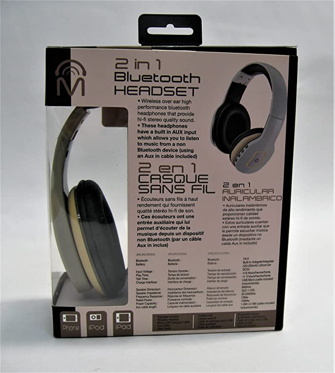 Amazon.com: Mental Beats Heat Over-Ear Bluetooth Headphone - Tan: Cell Phones & Accessories