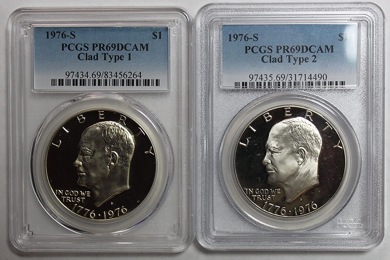 "1974-S US Eisenhower /""Ike/"" Silver One Dollar Coin $1 PCGS PR-69 DCAM Deep Cameo"