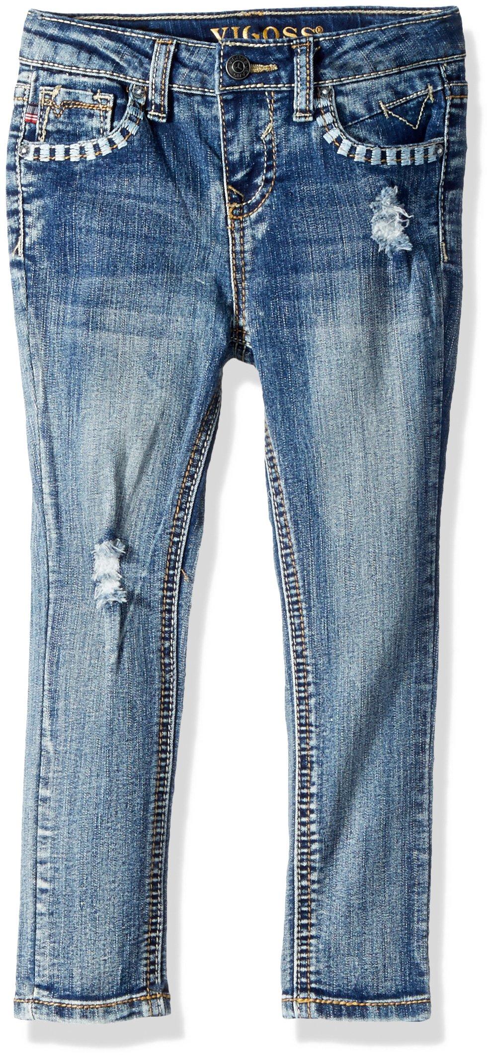 VIGOSS Girls' Toddler Back Pocket Jean, Memphis, 2T
